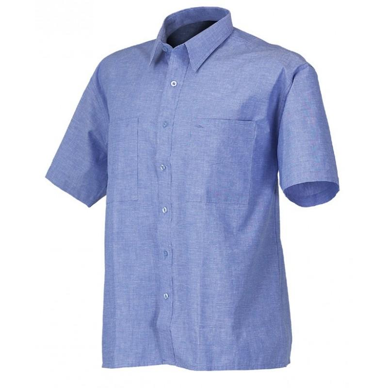 Camicia Manica Corta Azzurra