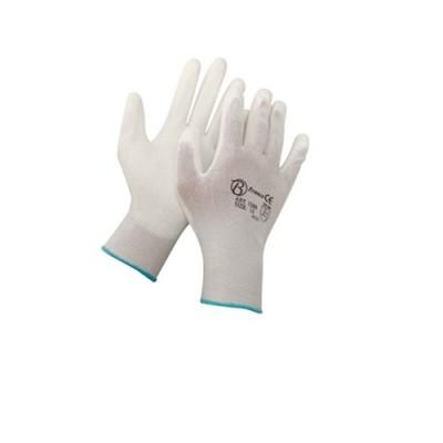 Guanti Nylon Spalmatura Poliur. Bianco