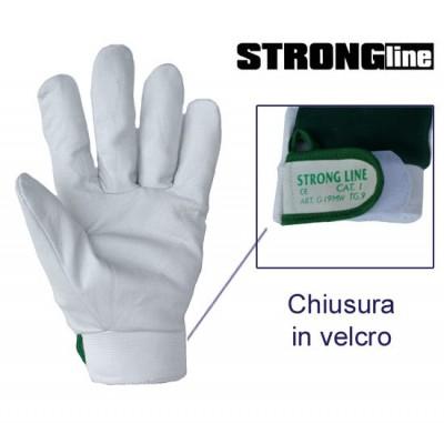 Guanti Pelle Fiore D.So Maglia + Velcro