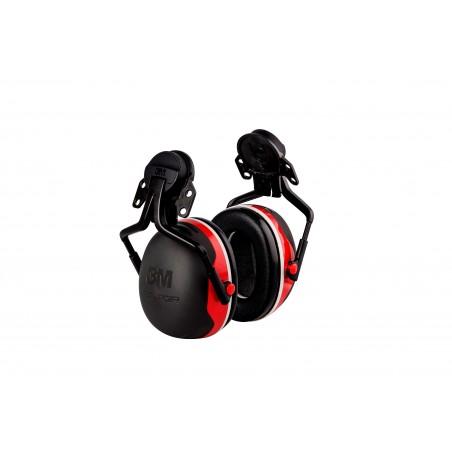 3M™ PELTOR™Cuffie auricolari Serie X,   X3P3 Cuffia attacco elmetto rossa  32 dB