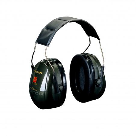 3M™ PELTOR™ Optime™ II Cuffie auricolari, 31dB, verde, con bardatura temporale, H520A-407-GQ