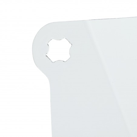 Visiera 3M™, visorino corto, policarbonato, trasparente, misura grande, V4KK