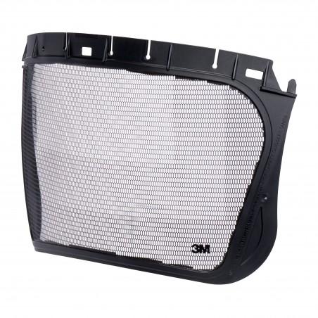 Visiera in rete metallica 3M™, acciaio inox inciso, nero, 5J-1