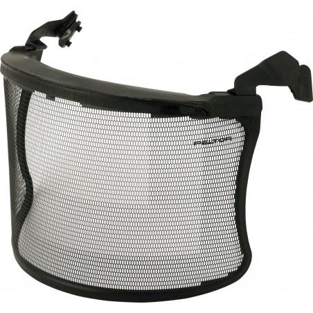 Visiera in rete metallica 3M™, visorino corto, acciaio inox inciso, nero, V4JK