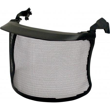 Visiera in rete metallica 3M™, visorino corto, acciaio inox, nero, V4CK