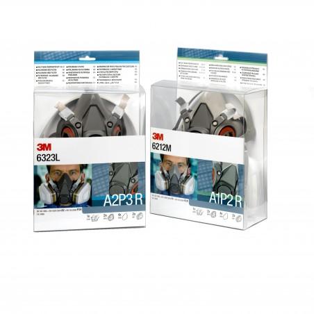 Kit respiratore con semimaschera riutilizzabile 3M™, filtro A1P2 R, maschera media, 6212M