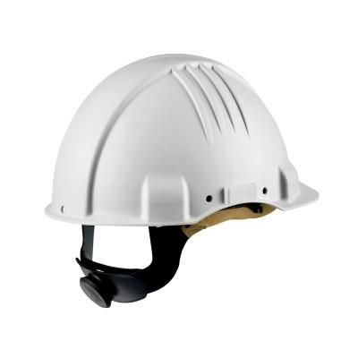3M™Elmetto ad alta resistenza al calore, con cricchetto, dielettrico 440v, fascia in pelle tergisudore, bianco, G3501M-VI