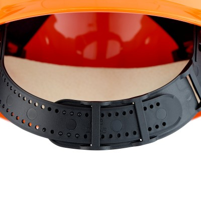 3M™ Elmetto di protezione G22, ventilato, con bardatura in pelle, arancio, G22D OR