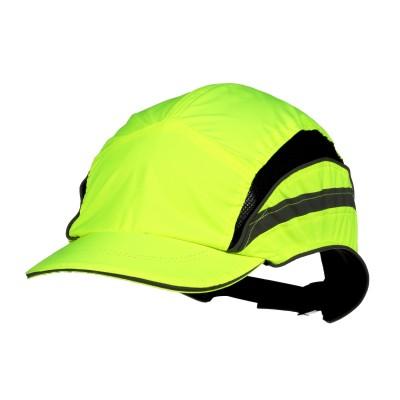 3M™ First Base™ 3 Bump Cap 2021866, Classic, alta visibilità, giallo, falda ridotta, 55 mm, 20 pz/confezione