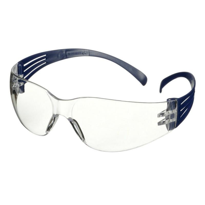 3M™ SecureFit™ 100 Occhiali di protezione, montatura blu antigraffio, lenti trasparenti, SF101AS-BLU-EU, confezione da 20 unità
