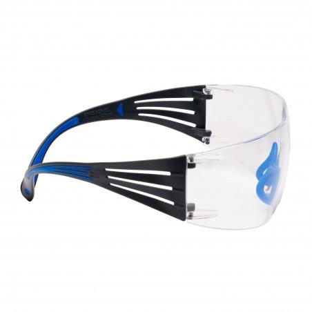3M™ SecureFit™ 400 Occhiali di protezione, montatura Blu/Grigio, Scotchgard™ Anti nebbia, Lenti chiare, SF401SGAF-BLU