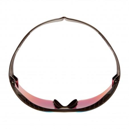 3M™ SecureFit™ 400X Occhiali di protezione, montatura nera/nera, anti-graffio, lenti a specchio arancioni, SF416XAS-BLK-EU