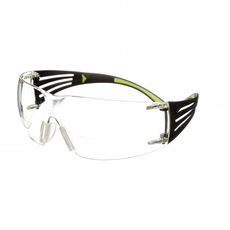 3M™ SecureFit™ Occhiali di protezione da lettura con lenti trasparenti +2,0, antigraffio e anti-appannamento, SF420AS/AF-EU