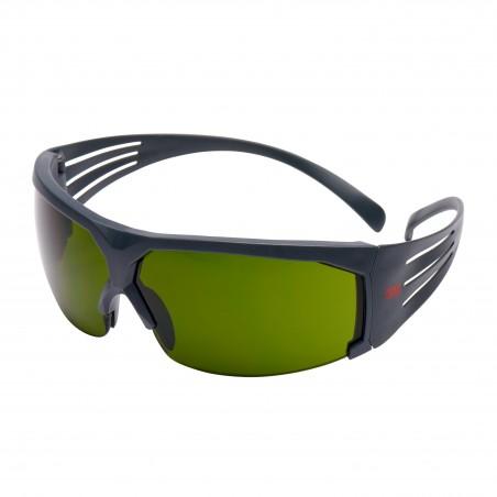 3M™ SecureFit™ SF630AS-EU Occhiali di protezione, montatura grigia, antigraffio, lenti da saldatura con gradazione 3.0 IR