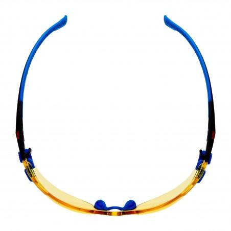 3M™ Solus™ Occhiali di sicurezza, montatura blu/nera, con trattamento anti-appannamento Scotchgard™, lenti gialle, S1103SGAF-EU