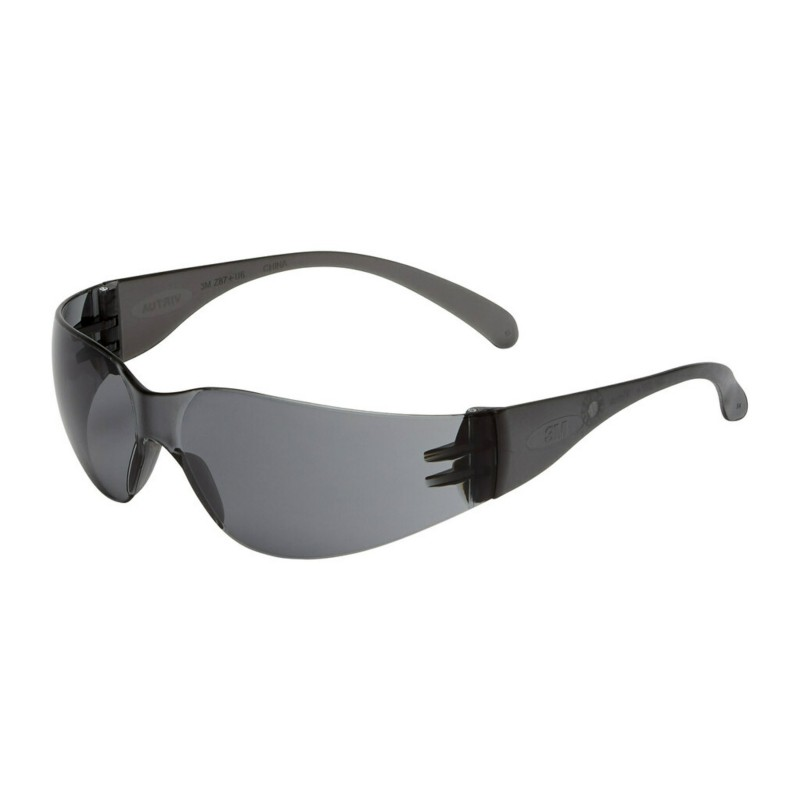3M™ Virtua™ Occhiali di protezione, antigraffio/anti-appannamento, lenti grigie, 715002AF-EU, confezione da 20 unità