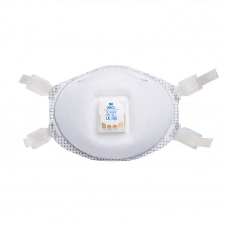 3M™ 9925 Respiratore per polveri, fumi di saldatura e ozono Classe FFP2 NR D con valvola