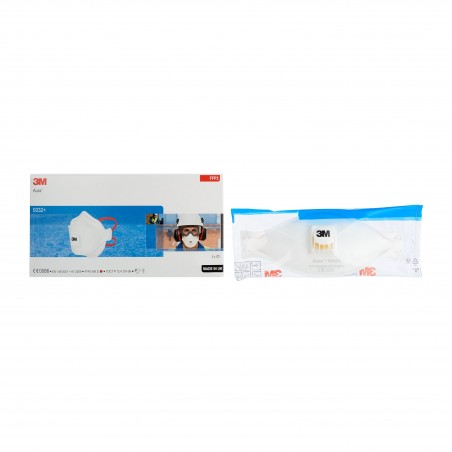 3M™ Aura™ Respiratore antiparticolato Classe FFP3 con valvola, 9332+