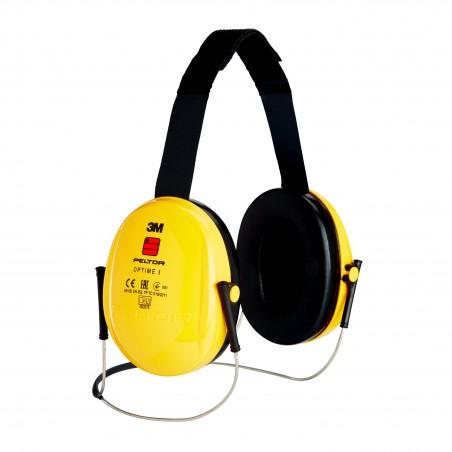 3M™ PELTOR™ Optime™ I Cuffie auricolari, 26dB, giallo, con bardatura nucale, H510B-403-GU