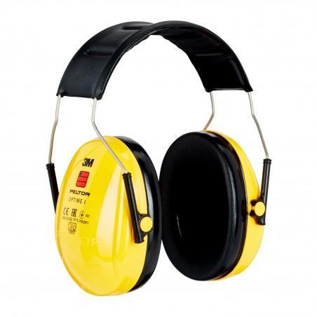 3M™ PELTOR™ Optime™ I Cuffie auricolari, 27dB, giallo, con bardatura temporale, H510A-401-GU
