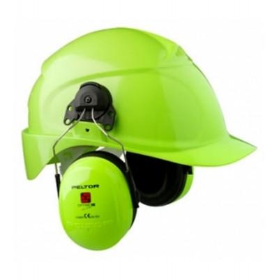 3M™ PELTOR™ Optime™ III HI-Viz Cuffie auricolari, 34 dB, giallo/verde fosforescente, con attacco per elmetto  H540P3E-475-GB