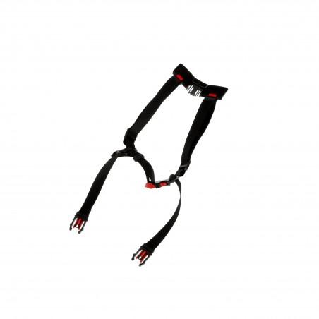 3M™ X5-S4PTCS2 Sottogola standard a 4 punti con fibbia e sistema di selezione per elmetto SecureFit™