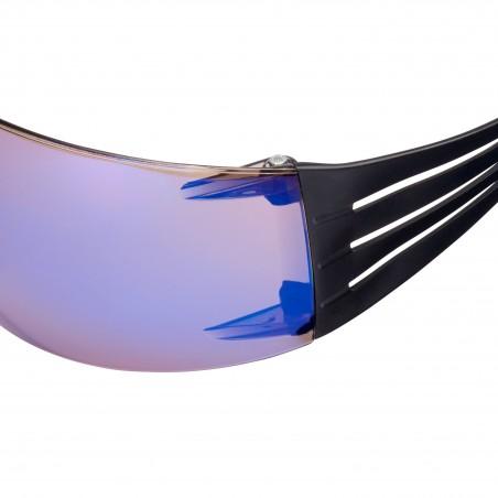 3M™ SecureFit™ SF408AS Occhiali di Protezione, lente blu specchiata in PC (AS)