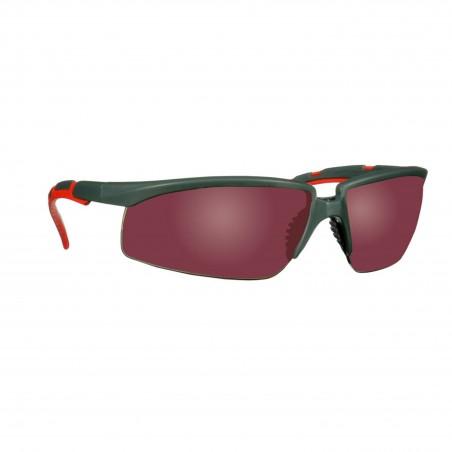 3M™ Solus™  2000 Occhiali di Sicurezza, stanghette grigio/rosso, lenti rosse specchiate e anti-graffio, S2024AS-RED