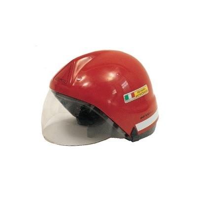 Casco Rosso C/Visiera A Scomparsa En443
