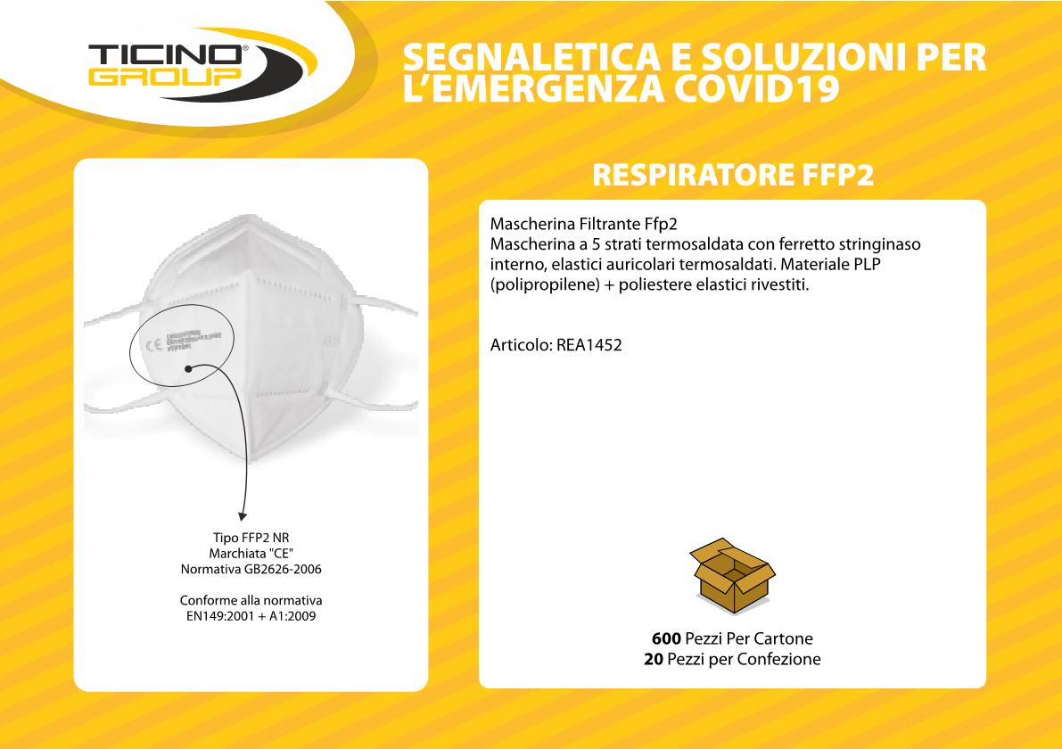 Respiratore mascherina FFP2