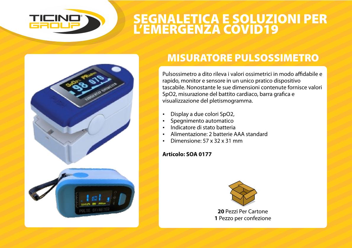 Misuratore Pulsossimetro portatile
