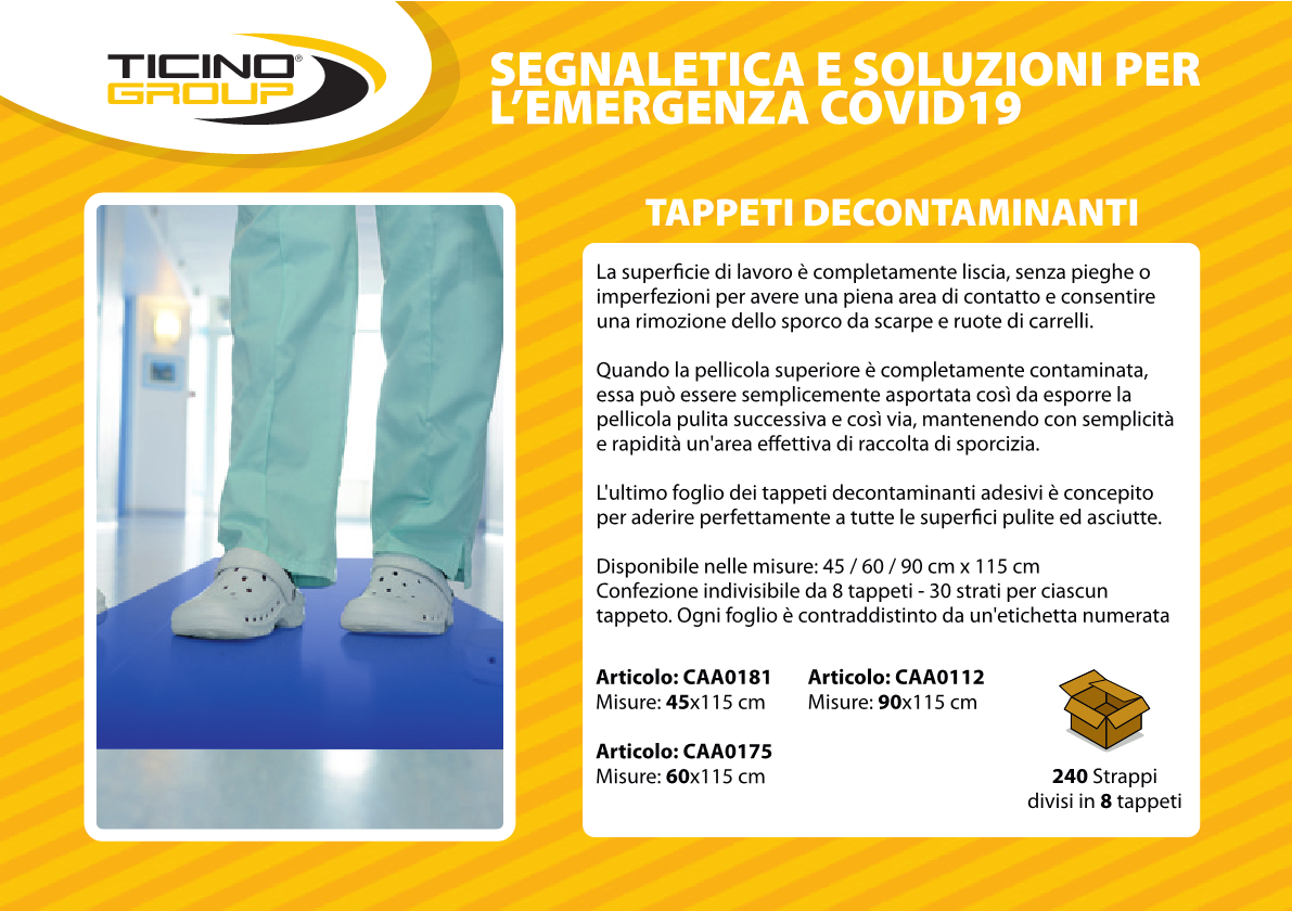 Tappeto decontaminante